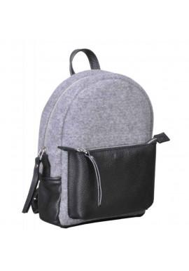Фото Женский рюкзак из войлока и кожи Sport Felt Grey Black