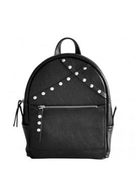 Фото Кожаный женский рюкзак Sakura Black