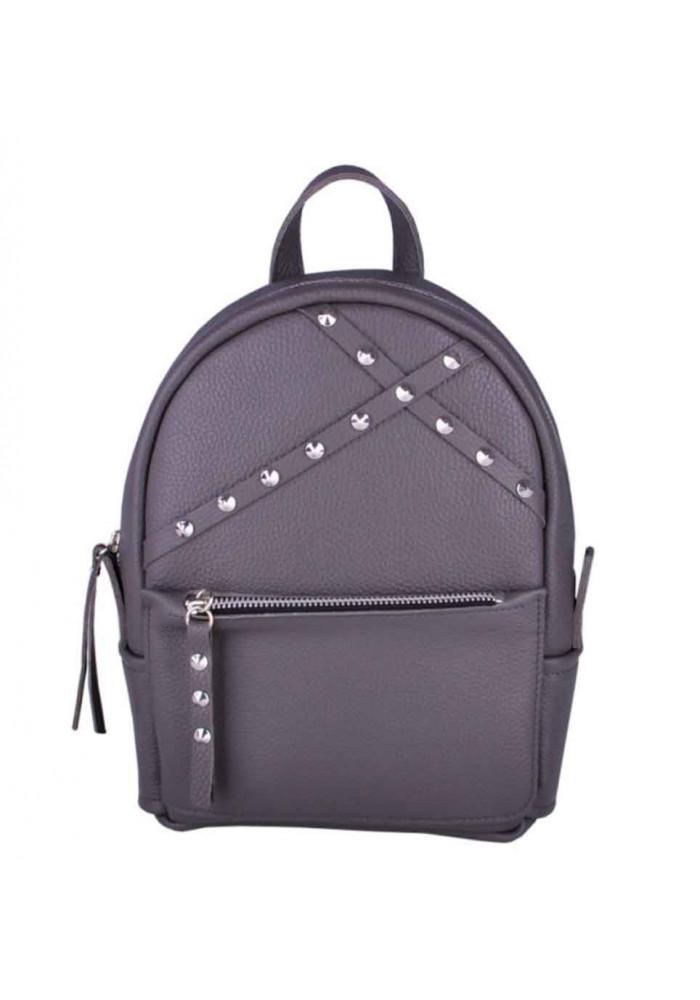 Кожаный женский рюкзак Sakura Dark Grey