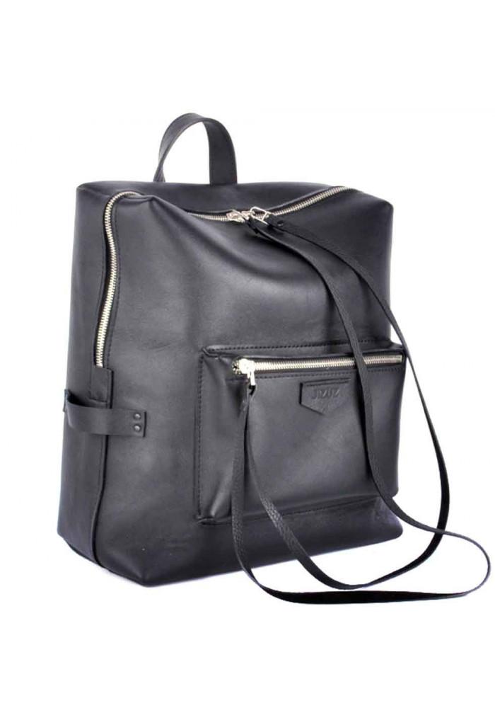 Стильный черный рюкзак Virgo из гладкой кожи