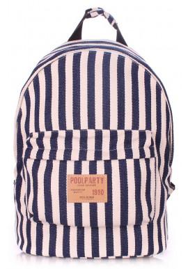 Фото Летний рюкзак Poolparty в полоску