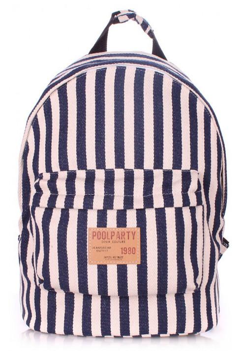 Летний рюкзак Poolparty в полоску