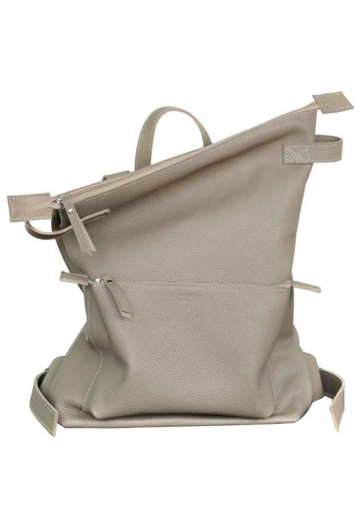 Кожаный летний рюкзак Voyager Beige