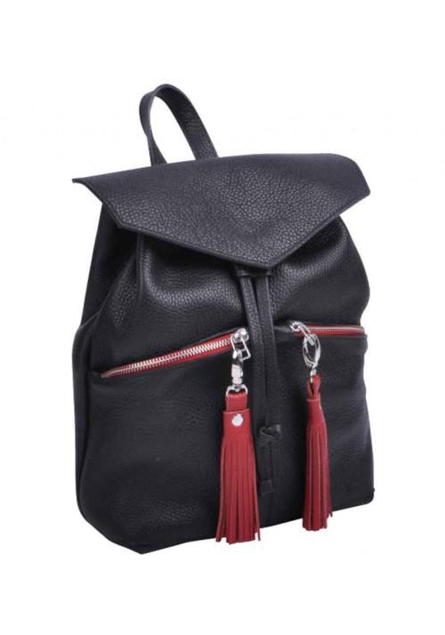 Кожаная сумка-рюкзак женская Balance Black New