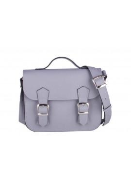 Фото Женская кожаная сумка Satchel Mini Grey