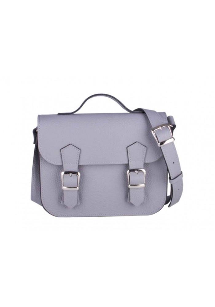 Женская кожаная сумка Satchel Mini Grey