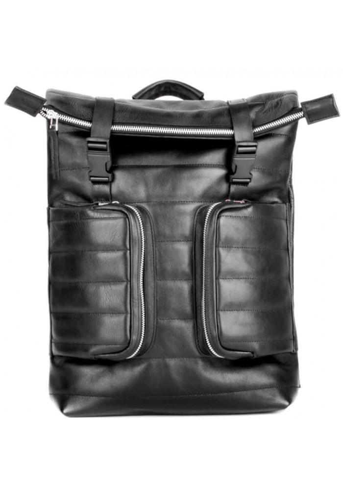 Мужской кожаный рюкзак Motto Black