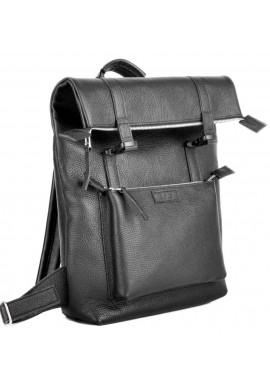 Фото Мужской кожаный черный рюкзак Jizuz Desert Black