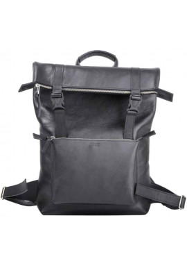 Фото Мужской рюкзак из гладкой кожи Jizuz Desert Black GL