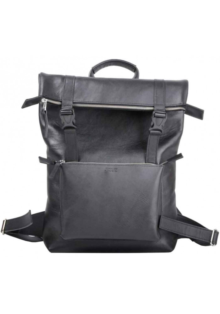 Мужской рюкзак из гладкой кожи  Jizuz Desert Black GL