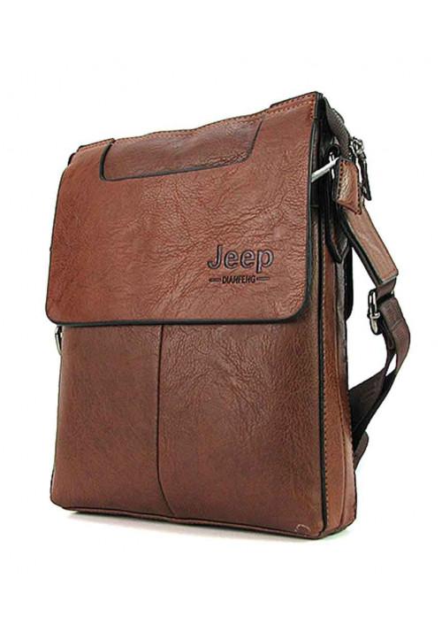Коричневая мужская сумка через плечо 5800