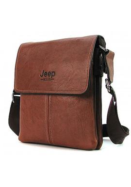 Фото Коричневая мужская сумка через плечо 8875