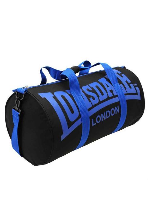 Спортивная сумка для зала LONSDALE BARREL BAG BLACK BLUE