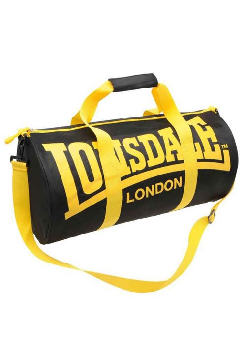Спортивная сумка для зала LONSDALE BARREL BAG BLACK YELLOW
