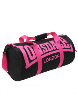 Фото Женская спортивная сумка для зала LONSDALE BARREL BAG BLACK PINK