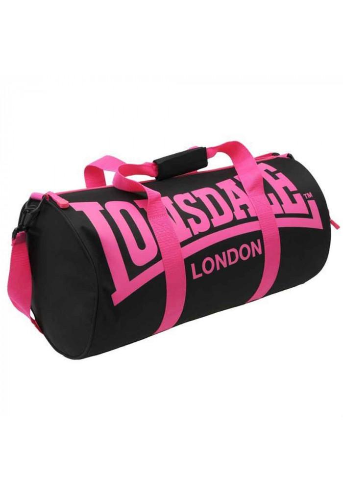 Женская спортивная сумка для зала LONSDALE BARREL BAG BLACK PINK