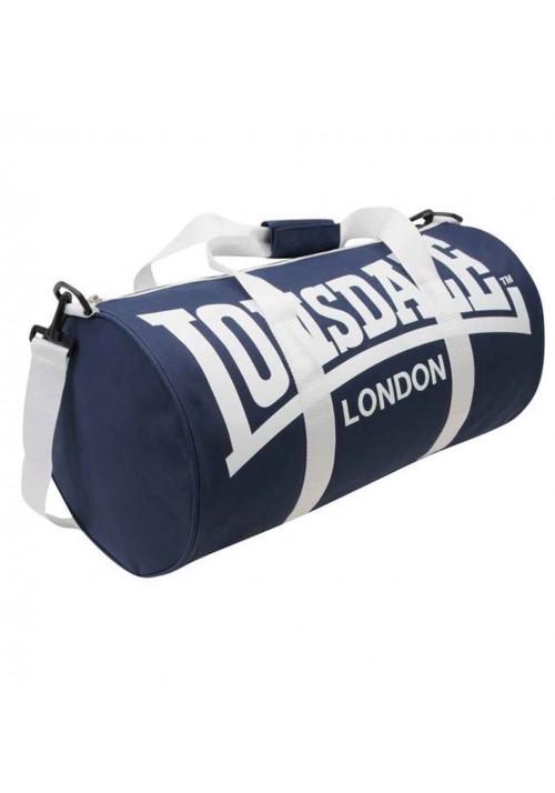 Спортивная сумка для тренировок LONSDALE BARREL BAG NAVY WHITE
