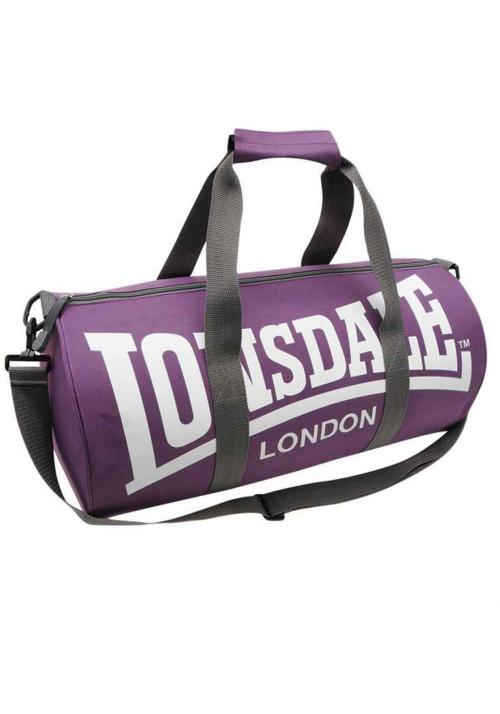 Спортивная сумка для тренировок LONSDALE BARREL BAG PURPLE GREY