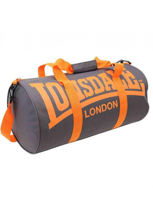 Сумка спортивная цилиндр LONSDALE BARREL BAG CHARCOAL ORANGE