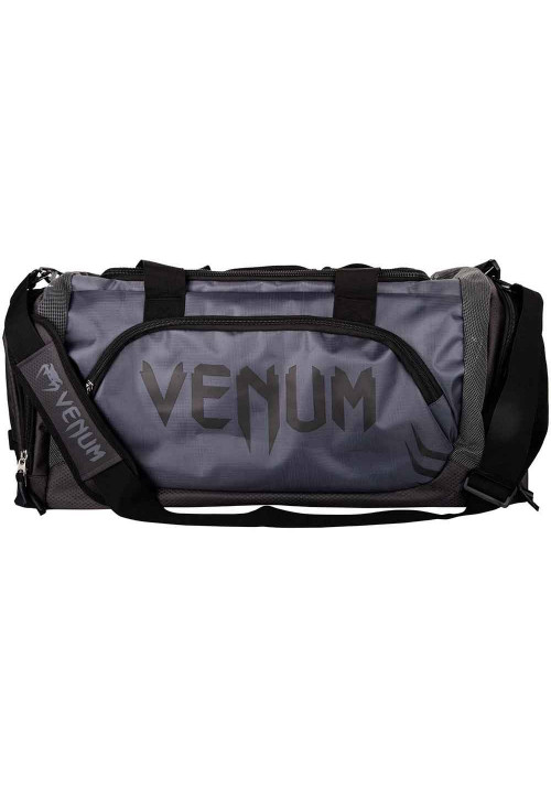 Спортивная сумка серая VENUM TRAINER LITE SPORT BAG GREY BLACK
