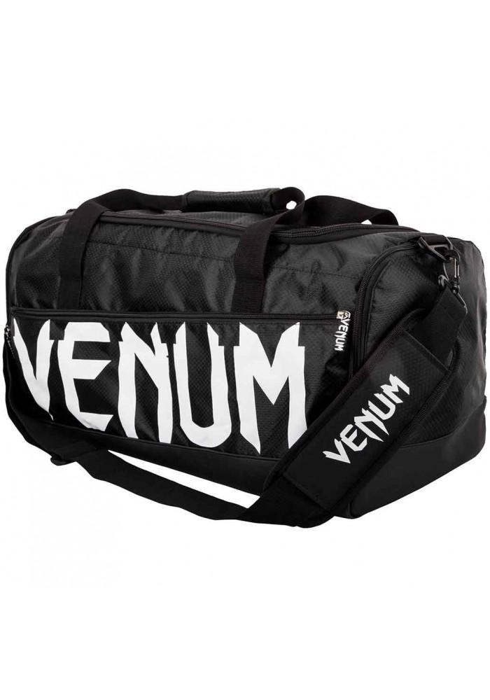 Спортивная сумка для экипировки VENUM SPARRING SPORT BAG BLACK WHITE