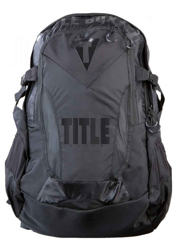 Черный спортивный рюкзак TITLE BLACK BESIEGED BACK PACK