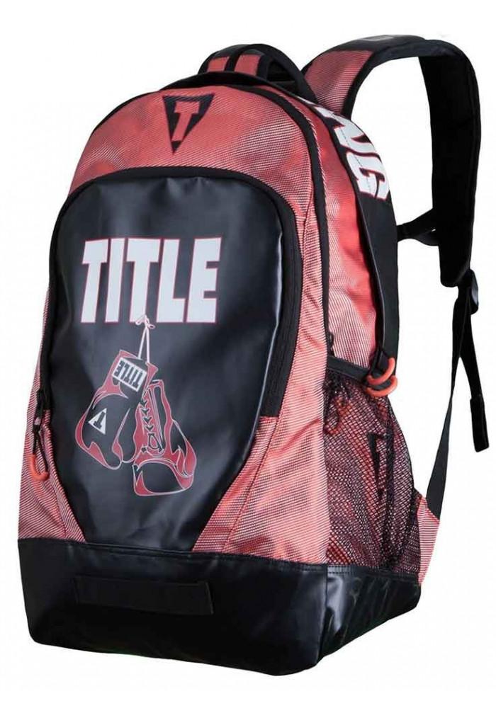 Рюкзак для тренажерного зала TITLE ENDURANCE MAX BACKPACK BLACK RED