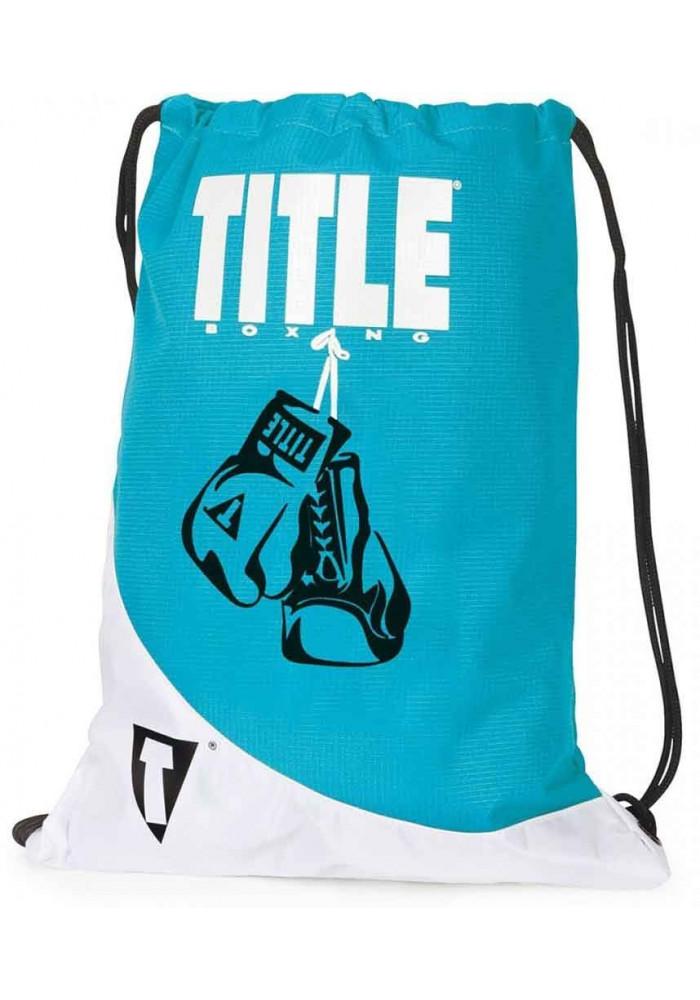 Легкий спортивный рюкзак TITLE GYM SACK PACK BLUE WHITE