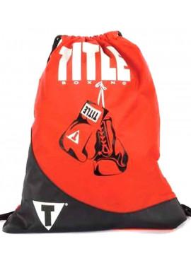 Фото Легкий спортивный рюкзак TITLE GYM SACK PACK RED BLACK