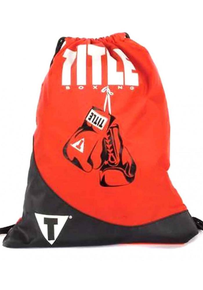 Легкий спортивный рюкзак TITLE GYM SACK PACK RED BLACK