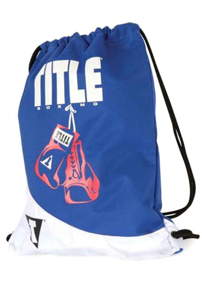 Спортивный рюкзак для зала TITLE GYM SACK PACK BLUE WHITE