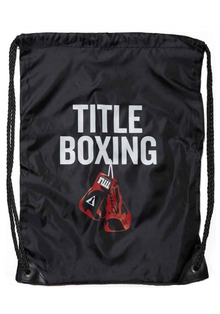 Спортивный рюкзак на шнурке TITLE BOXING SACK PACKS BLACK