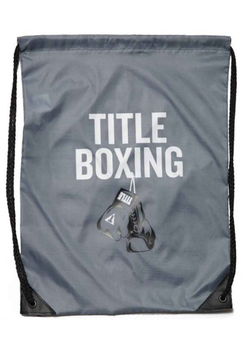 Спортивный рюкзак на шнурке TITLE BOXING SACK PACKS GREY