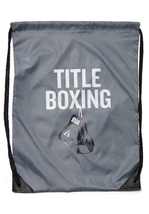 Спортивный рюкзак на шнурке TITLE BOXING SACK PACKS GREY