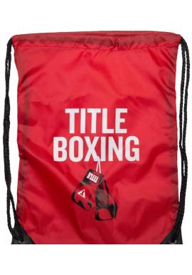 Фото Спортивный рюкзак на шнурке TITLE BOXING SACK PACKS RED