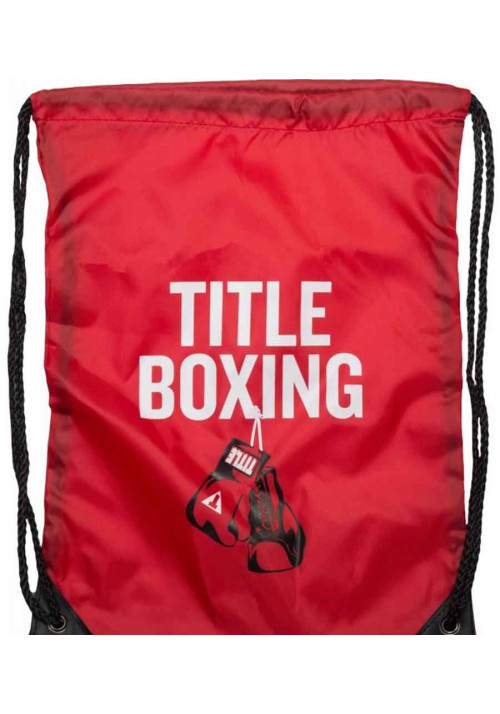 Спортивный рюкзак на шнурке TITLE BOXING SACK PACKS RED