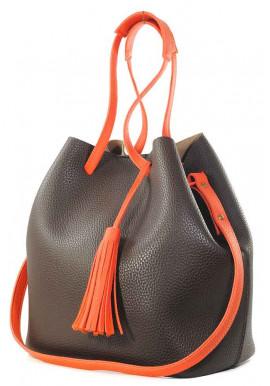 Фото Сумка мешок Betty Pretty коричневая