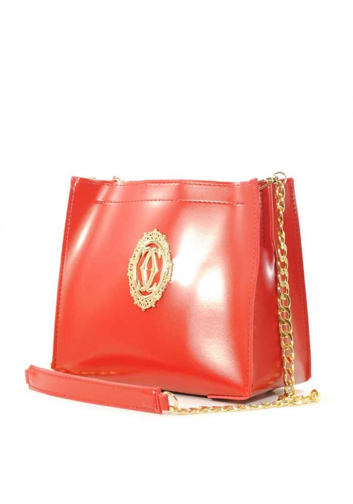 Женская сумочка-клатч Betty Pretty красная глянцевая
