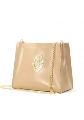 Фото Женская сумочка-клатч Betty Pretty бежевая глянцевая