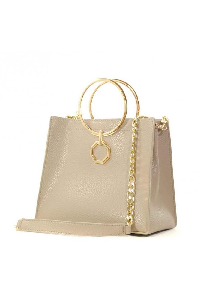 Летняя женская сумочка-клатч Betty Pretty бежевая матовая