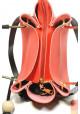 Красная женская сумка с черной кисточкой Betty Pretty, фото №7 - интернет магазин stunner.com.ua