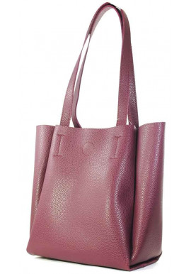 Фото Женская сумка бордового цвета Betty Pretty