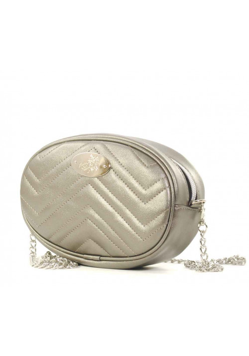 Поясная женская сумочка Betty Pretty серебристая