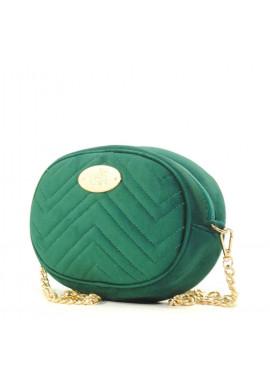 Фото Велюровая женская сумка на пояс Betty Pretty зеленая