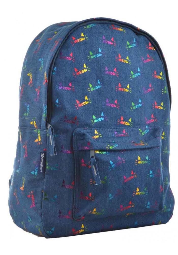 Молодежный рюкзак унисекс YES ST-18 Jeans Meow