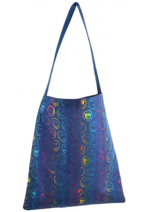 Летняя джинсовая женская сумка YES Shopper Bright owl