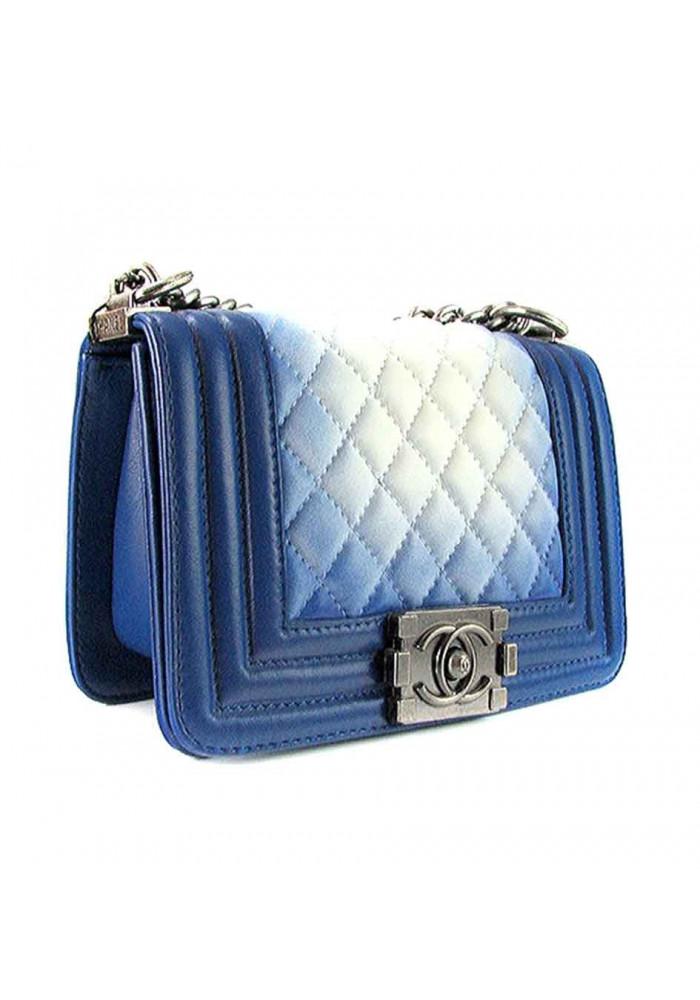 Женский кожаный клатч 6620 синий