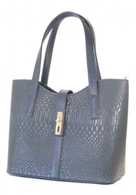 """Фото Женская сумка """"Лодочка"""" темно-синяя 56-DRACON"""