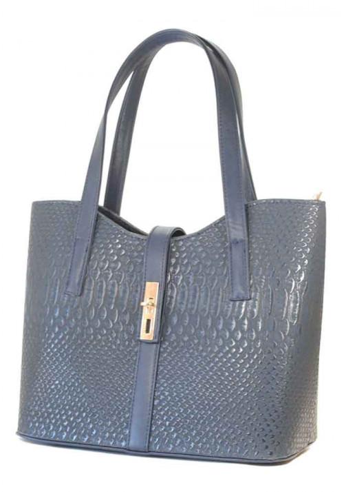 """Женская сумка """"Лодочка"""" темно-синяя"""