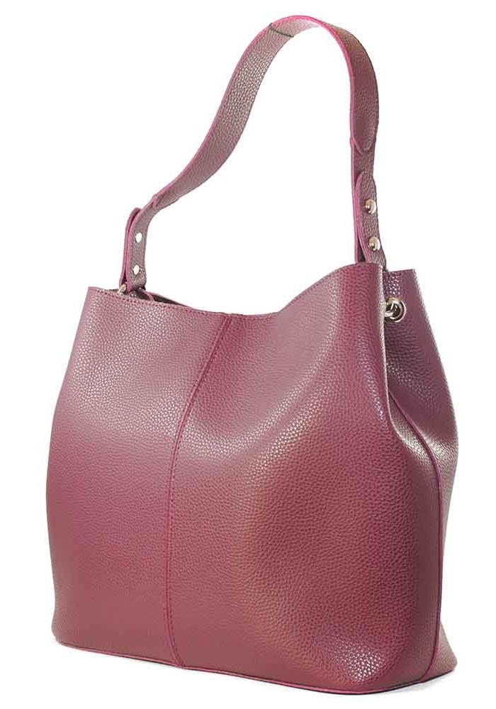 Женская мягкая сумка бордо Betty Pretty